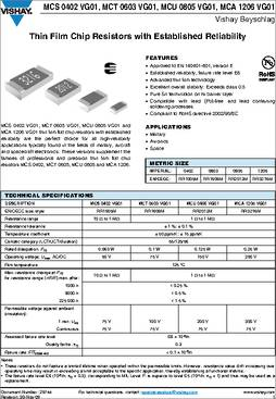 RES SMD 10K OHM 0.1/% 1//16W 0402 MCS04020D1002BE100 Pack of 100