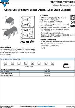 VISHAY SEMICONDUCTOR TCMT1600 OPTOCOUPLER TRANSISTOR 3750VRMS 5 pieces