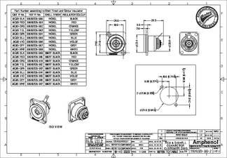 Amphenol ACJD-WHT D Flange Panel Mount RCA Jack White//Nickel