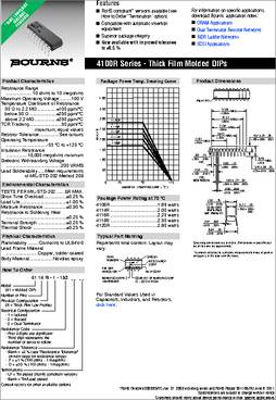1KOHM 5/% 1206 BOURNS CAY16-102J4LF RESISTOR ISO RES ARRAY 4 50 pieces