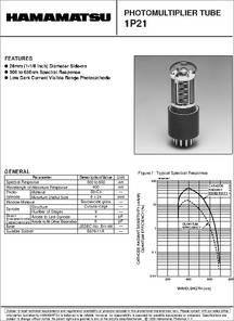 1P21 datasheet - Photomultiplier Tube