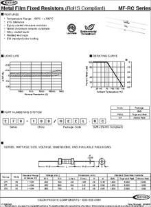 475 Ohm 1//4 Watt 1/% Metal Film Resistor Lot of 100 Pieces 271-475-RC