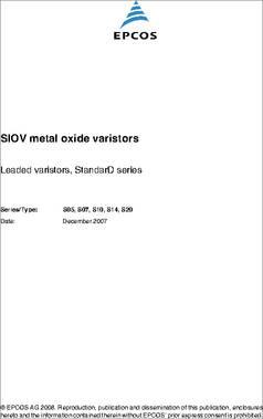 Varistors Varistor S10K130G5S5 5 pieces