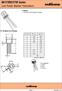 Datasheet pdf bc177