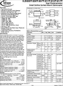 Datasheet) ild217 pdf ild205/206/207/211/213/217 features • two.