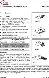 tle5206 2 datasheet 5a h bridge for dc motor applicationsTle5206 2 H Bridge Circuit Application And Datasheet #8
