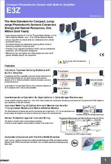 E3z D62 Datasheet Specifications No Of Channels