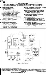 80186 datasheet - High-integration 16-bit Microprocessor