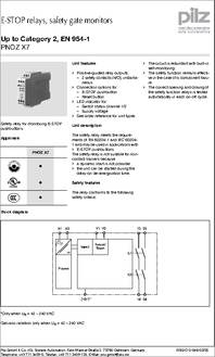 PNOZ X7 774053 pnoz x7 774053 datasheet specifications coil voltage vac nom pilz pnoz x2 wiring diagram at honlapkeszites.co