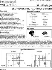 Datasheet) ir21531 pdf preliminary data sheet no. Pd60131-l.