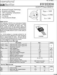 IRF9530N datasheet - -100V Single P-channel HexFET Power MOSFET in