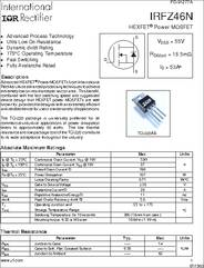 IRFZ46N datasheet - 55V Single N-channel HexFET Power MOSFET in a TO