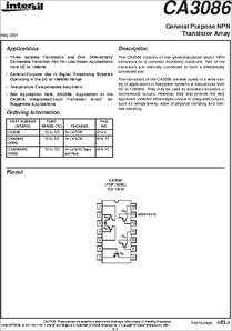CA3081F Datasheet Equivalent Cross Reference Search