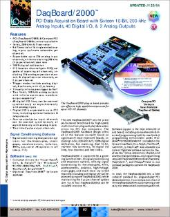 Software offers support for DaqBoard / 2000(TM) series