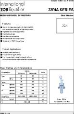 100 pieces VISHAY SEMICONDUCTOR VS-22RIA20 SCR THYRISTOR