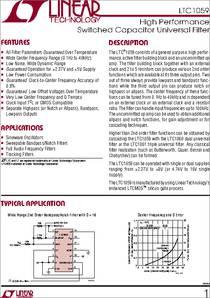 LTC1060CS LINEAR TECHNOLOGY IC FILTER BUILDING BLOCK 20-SOIC