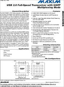 MAX3349EA datasheet - The MAX3349EA ±15kV ESD-protected, USB