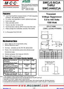 TVS DIODE 70V 113V DO214AB Pack of 100 SMCJ70CA-TP