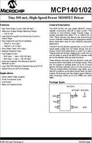 MCP1404 datasheet - Low-side MOSFET Drivers  5A-1 2A Peak