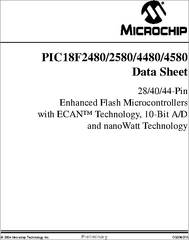 PIC18F4580 datasheet - Enhanced Flash Microcontrollers With