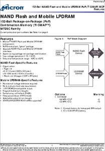 MT29C1G12MAACYAMD-5 IT datasheet - Specifications: Memory