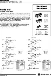 MC14043BCL datasheet - CMOS Msi Quad R-s Latches