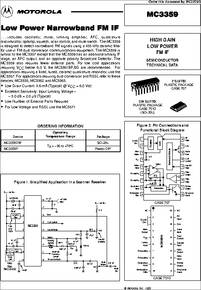 Mc3359p Datasheet High Gain Low Power Fm If