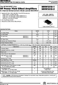 MOTOROLA MODULE,UHF Silicon FET Power Amplifier MHW2821-1