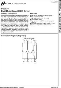 DS0026 datasheet - 5 MHZ Two Phase MOS Clock Driver