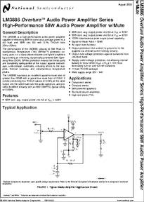 Lm3886 Datasheet High Performance 68w Audio Power