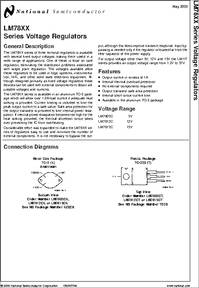 LM7812C datasheet - 5 Volt Regulator