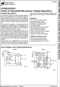 LP2951ACM datasheet - LP2951 - Series of Adjustable Micropower ...
