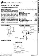 Tl081 Datasheet Wide Bandwidth Jfet Input Operational
