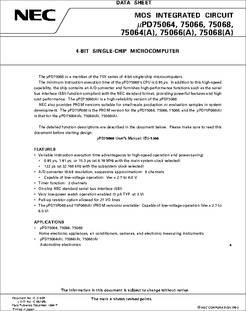 NEC QFP64 MAKE UPD75104GF SemiConductor CASE