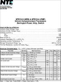 35V Medium Power 2 Amp NTE Electronics NTE2659 NPN Silicon Complementary Transistor