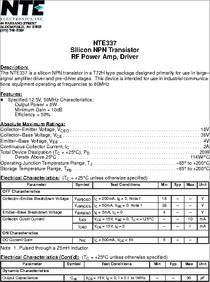 Driver 4 Amp Inc. NTE Electronics NTE345 NPN Silicon Transistor RF ...