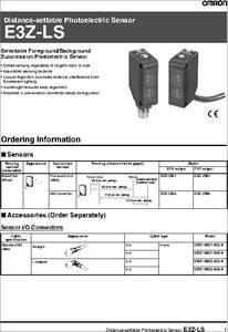 E3z Ls61 Datasheet 187 187 187 Photoelectric Sensors Photoelectric