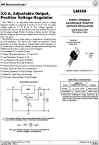 Lm350t Datasheet 3a Adjustable Output Positive Voltage
