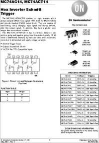 MC74ACT14N datasheet - Hex Inverter Schmitt Trigger, Package
