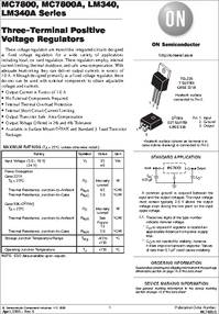 MC7805C Datasheet Of on voltage regulator pinout, 5 volt regulator, 2a to220, voltage regulator circuit diagram, dc voltage regulator, 9v battery, voltage regulator datasheet,