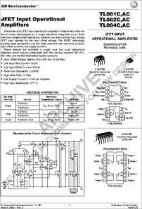 TL084 datasheet - JFET Input Operational Amplifier