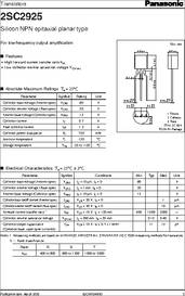 Panasonic 2SC3311A Transistor TO92 MAKE CASE