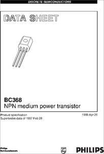 BC368 NPN Amplifier Transistor