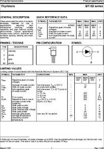 BT152 datasheet - BT152 Series; Thyristors