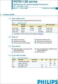 D113ES  =  PDTD113ES SOT-54A TRANSISTOR