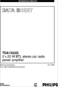 tda1552q datasheet tda1552q; 2 x 22 w btl stereo car radio powerCar Audio Amplifier Tda1557q Tda1553q #11