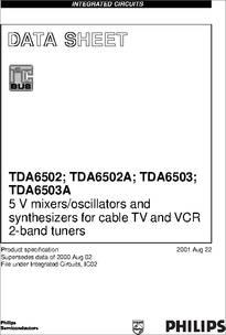 TDA6502 datasheet - TDA6502