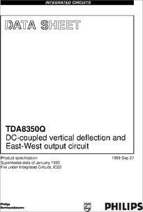 TDA8350q datasheet - TDA8350Q; Dc-coupled Vertical ...
