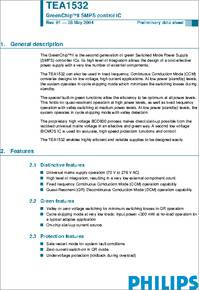 TEA1532T datasheet - Greenchip(tm)ii SMPS Control Ic<<<>>>the