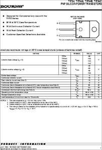 TIP34 datasheet - PNP Silicon Power Transistors